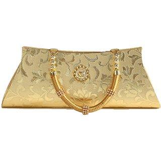 Prasiddhi Golden Classy Party Festive Handbags Cocktail Evening Wedding Party Clutch Purse for Women
