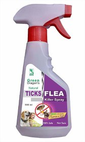 Green Dragon's Natural Ticks  Flea Killer Spray 500ml