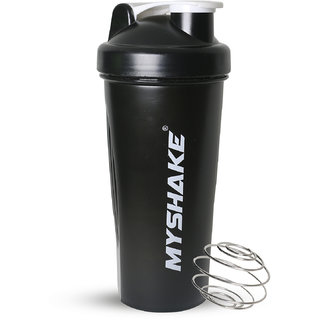 afe5d9a5d5ba 3%off Myshake Classic Protein Shaker Bottle Protein Plastic Shaker Bottle  for Sports and Fitness 600 ml (