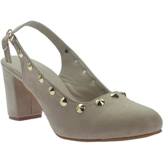 Picktoes Women Beige Block Heels