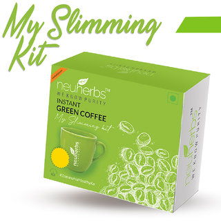 Neuherbs My Slimming Kit Instant Green Coffee for Weight Loss 75 g (Lemon Flavoured)