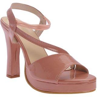 Picktoes Women Pink Block Heels