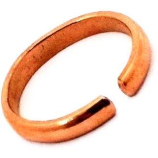 gulzar  Copper/Tamba Adjustable Ring / Challa For Good Luck Copper