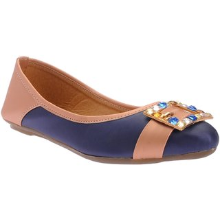 Picktoes Women Blue Flat Bellies
