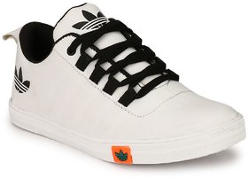 Cyro White Synthetic Air Mix Lace-Up Smart Casual Shoes For Men
