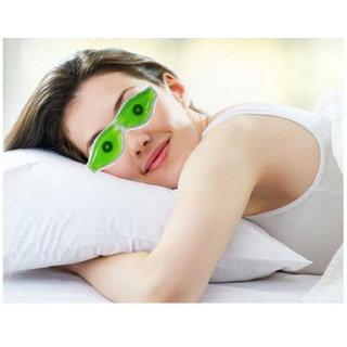 SPERO Aloe Vera Cold Eye Mask Ice Compress Green Gel Eye Fatigue Relief Cooling Eye Care Relaxation Eye Shield 1 Pcs