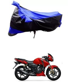 Ronish Blue & Black Bike Body Cover for TVS Apache RTR 160