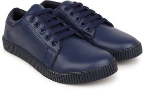 Crown Sapphire Casual Sneakers For Men (Blue, 6 UK)