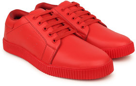 Crown Sapphire Casual Sneakers For Men (Red, 6 UK)