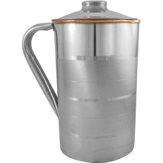 gulzar   Steel Copper Jug Pitcher - Storage Water Drinkware Tableware  Water Jug  (1.2 L)