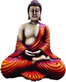 SAI SARTHAK ENTERPRISE MEDITATING POSTURE GAUTAM BUDDHA MULTI-COLOUR HAND-PAINTING TABLE-TOP