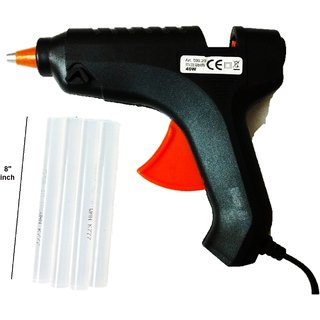 Hot Melt Glue Gun 40w with 4 glue sticks (8 inch)