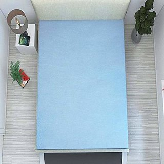 HomeStore-YEP Waterproof Non Woven Single Bed Mattress Cover with Zip (72x36x6-inch, Blue) -1 Pc