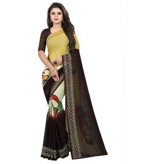Pari Designerr Multi Colour Georgette Printed Saree With Blouse