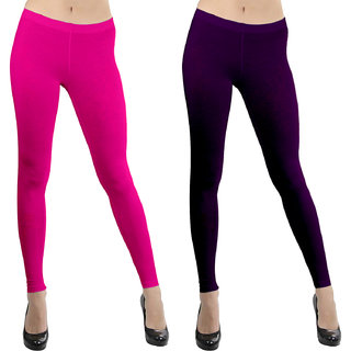 Omikka Women Viscose Ankle Length Legging Pack 2