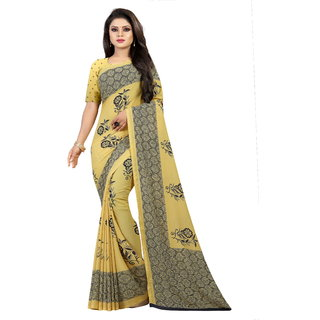 Pari Designerr Multicolor Georgette Embroidered Saree With Blouse