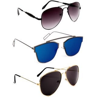af89b943549 TheWhoop Combo UV Protected Latest Stylish Goggles Aviator Sunglasses For  Men