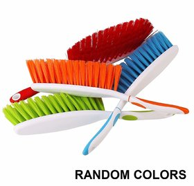 Yezbay Long Bristles colored Handle Cleaning Duster Brush - For Car Seats, Carpet,