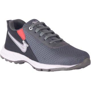 Pardus Men's Grey and Black Comfy Sports Shoes