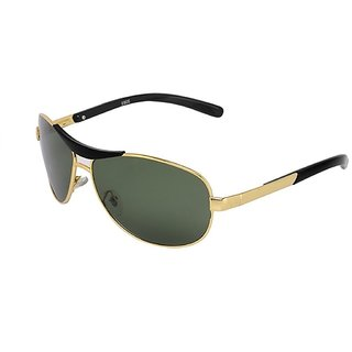 Ivy Vacker Green & Gold UV Protection Free-size Full Rim Rectangular Metal Unisex Sunglasses
