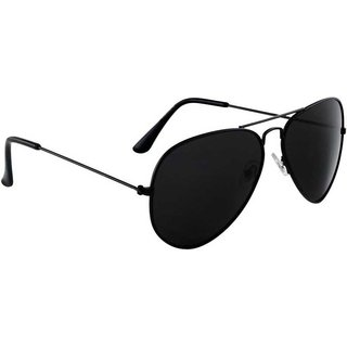 Ivy Vacker UV Protected Aviator Black Sunglasses For Men (Free Size)