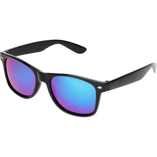 Ivy Vacker Blue Mirrored Wayfarer Sunglasses for Men