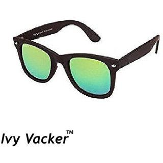Ivy Vacker Green Mirrored Wayfarer Synglasses for Men