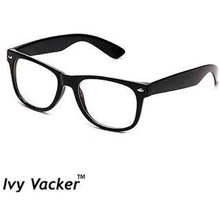 Ivy Vacker Men Black Transparent UV Protected Full Rim Wayfarer Sunglasses