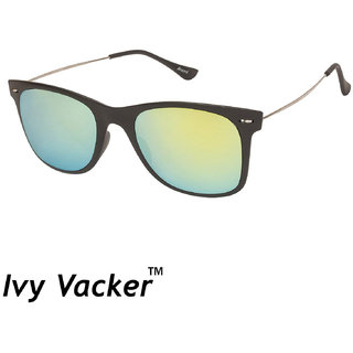 bab06f91fb325 Buy Ivy Vacker Metal Sides Yellow Mirrored Wayfarer Sunglasses ...
