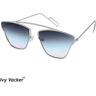 d12cb3ba9c605 Buy Ivy Vacker Blue Gradient Square Aviator Sunglass Online - Get 91% Off