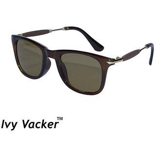 Ivy Vacker Rubber Side Brown UV Protected Wayfarer Sunglass