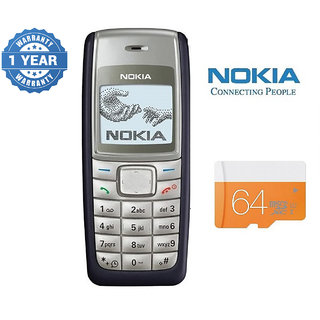 Nokia 1110/ Good Condition/ Certified Pre Owned (1 Year Warranty) with 64GB Memory Card