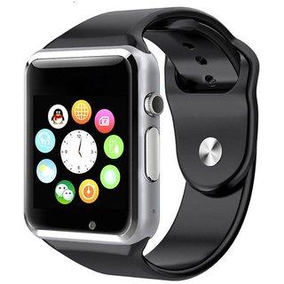 JM Black PU Analog-Digital Smart Watch