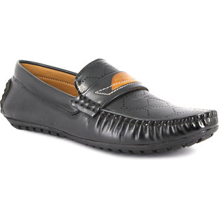 ONCE MORE BLACK COLOR STYLISH CASUAL LOAFERS FOR KIDS/BOYS