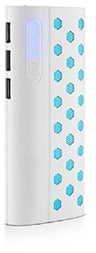 Hobins New Dotted Fast Charge 20000 Mah Power Bank (White)
