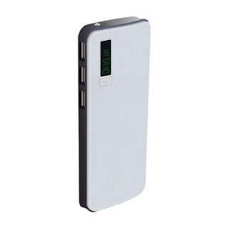 Hobins Ajay Leather Fast Charge 20000 Mah Power Bank (White)