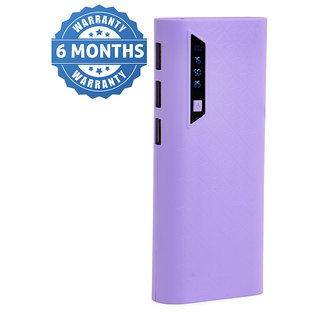 Hobins Flovy Fast Charge 20000 Mah Power Bank (Purple) With 6 Months Seller Warranty