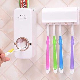 Traders5253 Plastic Adhesive Based Toothpaste Dispenser Kit (Assorted Color)