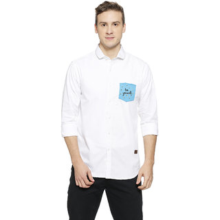 Campus Sutra Men's White Casual Shirts