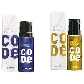 Wild Stone Code Gold  Titanium Combo Perfume Body Spray - For Men  (240 ml, Pack of 2)