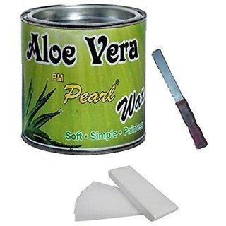 ELEGANCIO Combo Of Aloevera Simple Hot Wax 600 ml Pack of 3