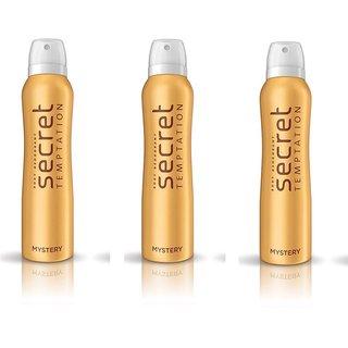 Secret Temptation MYSTERY Deodorant Pack of 3 For-Women (150-ML EACH)