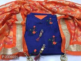 stylezone Chandheri Dress Material-tm6094navy