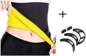 Gold Dust Body Slim Sweat Shapewear Belt + Bumpits Combo (3XL)