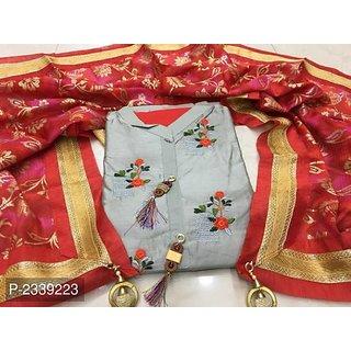 stylezone Chandheri Dress Material-tm6094grey
