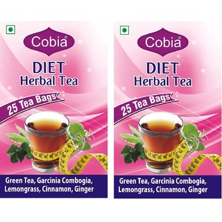 Cobia Diet(Slimming) Herbal tea 25 Tea bags Pack of 2