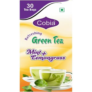 Cobia Green Tea (Mint + Lemongrass) 30 Bags