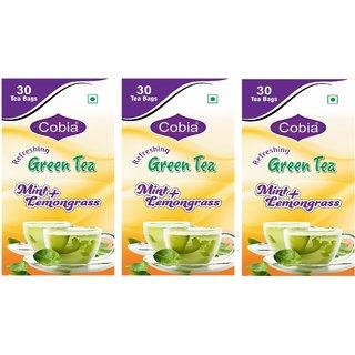 Cobia Green Tea (Mint + Lemongrass) 30 Tea Bags Pack Of 3