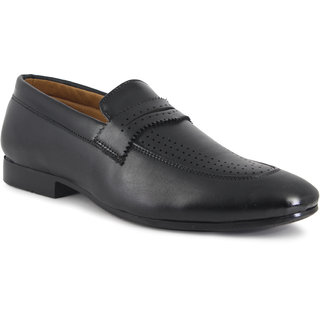 ONCE MORE BLACK COLOR PARTY WEAR CASUAL LOAFERS FOR KIDS/BOYS