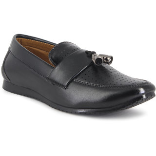 ONCE MORE BLACK COLOR CASUAL LOAFERS FOR KIDS/BOYS
